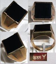 Herren-Ring 333 Gold mit Onyx