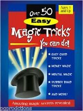 OVER 50 EASY MAGIC TRICKS YOU CAN DO BOOK Booklet Learn How to do Beginner Card