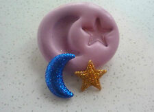 Moon & Star Very Flexible Silicone Mould, Sugarcraft, Cup Cake Decorating,Crafts