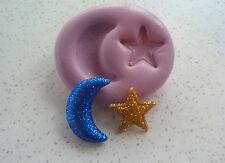 Luna Y Estrella Muy Flexible De Silicona, Molde, Sugarcraft, Cup Cake, Decoración, Artesanías