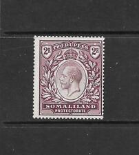 1921 King George V SG83 2r. Dull Purple Mult Script CA  Mint Hinged SOMALILAND