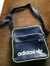 adidas Originals Cross Body Messenger shoulder Bag Blue Faux Leather