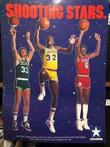Converse 1980's SHOOTING STARS Magic , Bird & Dr J Poster SI like