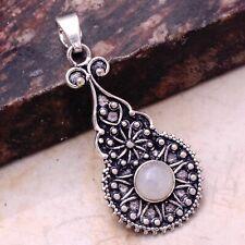 "Pendant Jewelry 1.92"" Ap 61788 Rainbow Moonstone Ethnic Gift Handmade"