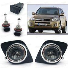 Full Set Front Fog lights Driving Lamps Cover Switch for 2009 2010 Toyota RAV4