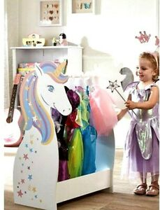 Girls Wooden Unicorn Dressing Dress-Up Rail Personalised With Name Aria