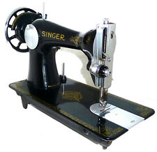 Antique vintage Singer 15K RAF sewing machine leather denim canvas mint RARE