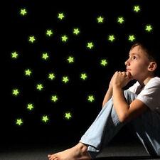 100PCS Glow In The Dark Stars Wall Stickers Baby Kids Bedroom Nursery Room Decor