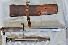 Swedish Mauser 1896 M96 Bayonet w/Scabbard & Leather Frog EJ Anchor Crown AB