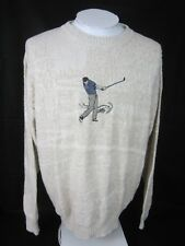 CYPRESS LINKS men Golf Sweater embroidered sz Large cotton rayon pullover V neck