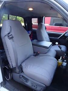 1998-2002 Dodge Ram Quad Cab 1500-3500, Front Exact Fit Car Seat Covers in Gray