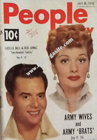 LUCILLE BALL & DESI ARNAZ - PEOPLE TODAY MAGAZINE - JULY 30, 1952