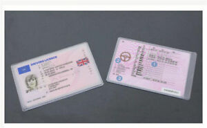 UK Clear Plastic Cover Sleeve Protector ID Credit Card Driving Licence Pouch DIY