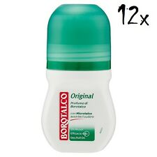 12x BOROTALCO ROBERTS deo roll-on Original 50ml ohne Alkohol deoroller Haut