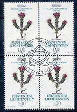 STAMP TIMBRE LIECHTENSTEIN OBLITERE BLOC DE 4 / N° 1021 FLORE