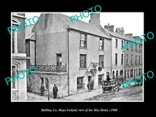 OLD 8x6 HISTORIC PHOTO OF BALLINA MAYO IRELAND VIEW OF THE MOY HOTEL c1900