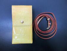 Auth LOUIS VUITTON Vernis Green M91052 Shoulder Pouch Case Patent Leather 64913