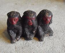 """Vintage Japan Three Monkey Figurine 1 1/4"""" Tall"""
