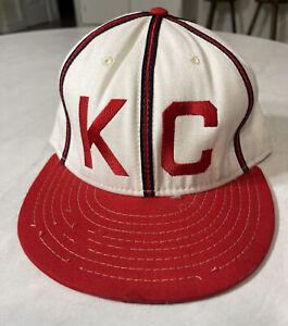 Kansas City Monarchs hat cap KC Royals 1942 Paige American Needle Size 7 3/8