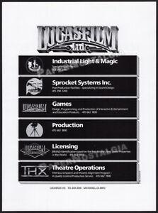 LUCASFILM LTD__Orig. 1987 Trade print AD / promo__INDUSTRIAL LIGHT & MAGIC__THX