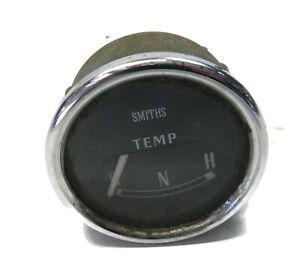"VINTAGE 1950S-60S SMITHS BLACK DASH TEMPERATURE GAUGE 2 1/8"" USED JAGUAR MG"