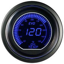 52mm Autogauge Digital EVO Gauge OIL TEMP METER RED/BLUE SMOKE LED - °C