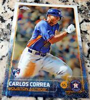 CARLOS CORREA 2015 Topps Chrome SP Rookie Card RC Logo HOT Houston Astros $$$