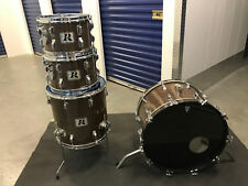 Vintage 1970's Rogers 4pc Drum Kit Shell Pack New Mahogany