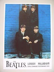 BEATLES,LONDON PALLADIUM,1963,RARE 1980's POSTER