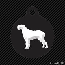Spinone Italiano Keychain Round with Tab dog engraved many colors canine pet