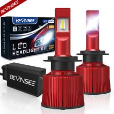 BEVINSEE H7 LED Scheinwerfer Birne 15000LM 100W Weiß Abblendlicht Fernlicht Paar