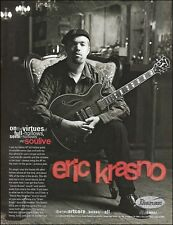 Soulive Eric Krasno Ibanez Artcore AF full-hollow guitar ad 8 x 11 advertisement
