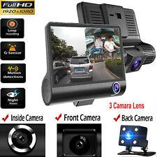 "4""1080P coche DVR de doble lente Cámara en Tablero Frontal y Trasera Cámara Grabadora de video G-Sensor"