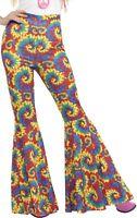 Mujer 1960s 1970s Hippy Kickers Acampanados Disfraz Pantalones