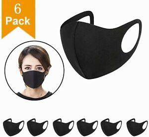 6 X Face Mask Reusable Mask Washable Black Adult Mask UK Approved !!!