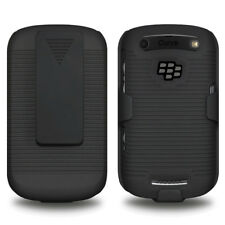 AMZER Shell Case Holster Belt Clip - Black For BlackBerry Curve 9370 9360 9350