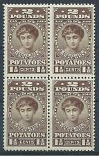 US 1935 Sc# RI2 Patato tax stamp block 4 MNH