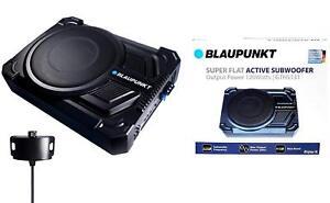 "BLAUPUNKT 2.5"" Tall Super Slim Single 10"" Active Under Seat Subwoofer 200 WATTS"