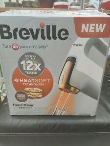 BREVILLE Heatsoft™ Hand Mixer VFM021 7 Speeds with Whisk Dough Hooks and Storage