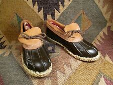 Vintage  Brown Rubber and Leather Duck Hunting Shoes Boots size 8 made in USA