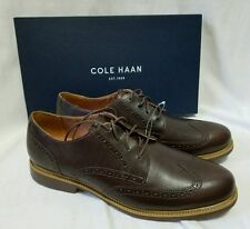 NEW Cole Haan Great Jones Wingtips Oxfords Men's 10M Chesnut Brown Leather Shoes
