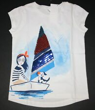 New Gymboree Outlet Girl Dog Sailboat Sequin Tee Shirt Size 5 Year NWT Girls