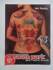 2002 Print Ad South Park TV Show Preview Promo ~ Comedy Central