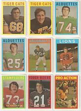 1972 OPC CFL NEAR SET 100/132 CARDS...OVER 75% OF THE SET!!! NO DUPS,  RC, STARS