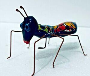 "Mexican Talavera Animal Ant Bug Insect  5"" Folk Art Pottery"