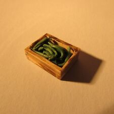 Dollhouse miniature ~ 1/24 scale ~ crate of veg and fruit