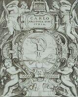 Ehrenblatt für Karl II. Franz, Erzherzog von Österreich, 18. Jh., Kupferstich