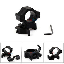 "1"" QD Quick Release Scope Mount For Rifle Picatinny Rail,Flashlight,Laser Sight"