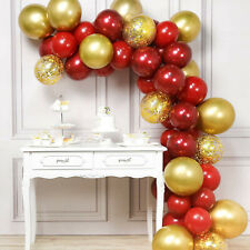 50 Balloon Arch Kit Garland Birthday Wedding Party Christmas New Year (Gold/Red)