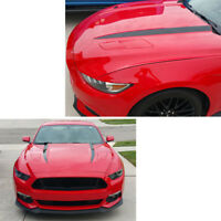 1 Pair Car Black Stripe Graphics Hood Decal Sticker for 2015 2016  FORD MUSTANG